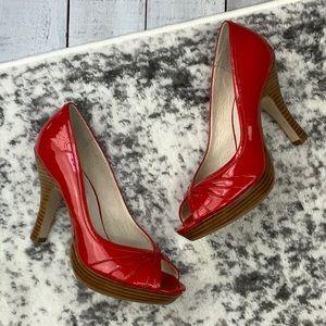 Steve Madden Pawla red peep toe heels